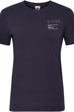 g-star raw shirt met v-hals »,g-star chest graphic slim v t«