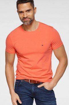 tommy hilfiger t-shirt »stretch slim fit tee« oranje