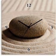artland wandklok mini zen tuin - zand geluidloos, zonder tikkende geluiden, niet tikkend, geruisloos - naar keuze: radiografische klok of kwartsklok, moderne klok voor woonkamer, keuken etc. - stijl: modern beige