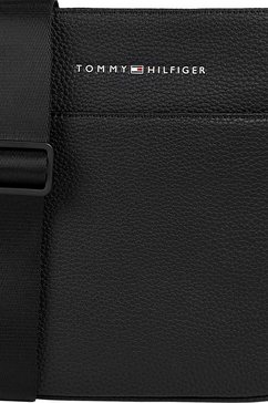 tommy hilfiger mini-bag essential pu mini crossover in tijdloos design zwart