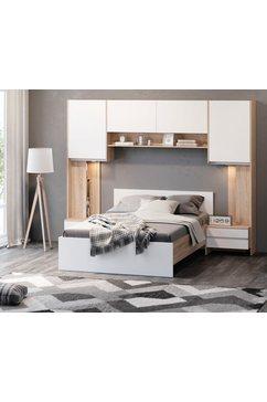 delavita slaapkamerserie adour met achtergrondverlichting wit