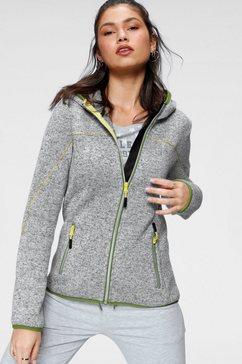 kangaroos tricot-fleecejack grijs
