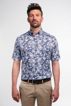 eterna businessoverhemd modern fit korte mouwen blauw