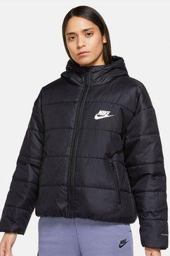 nike sportswear gewatteerde jas therma-fit repel classic series womans jacket zwart