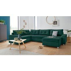 collection ab zithoek met binnenvering, naar keuze met slaapfunctie en bedkist groen