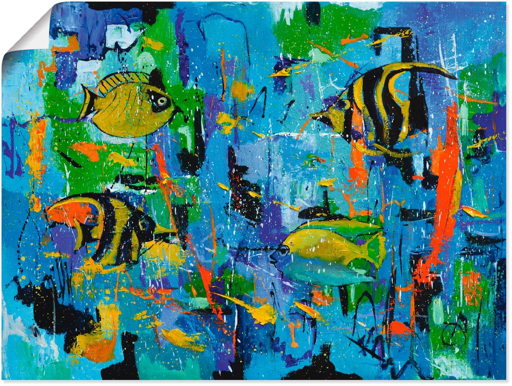 Artland artprint »Abstrakt Fische Blau« goedkoop op otto.nl kopen