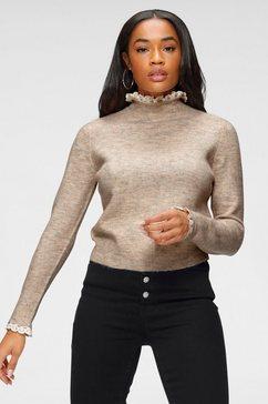 only trui met staande kraag »onlelsie« beige