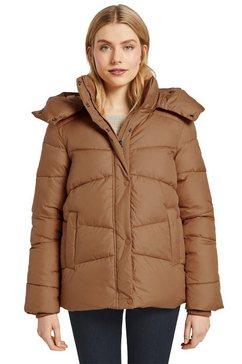tom tailor gewatteerde jas met afneembare capuchon bruin