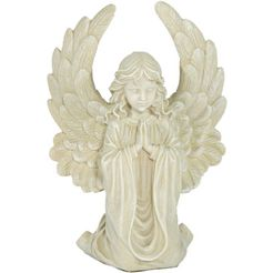 casa collection by jaenig engelfiguur »engel mit grossen fluegeln, klein, kniend, betend, h 18 cm« (1 stuk) wit