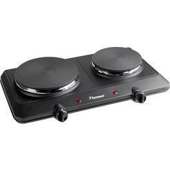 bestron »ahp250, gusseisen« 2-pits kookplaat zwart