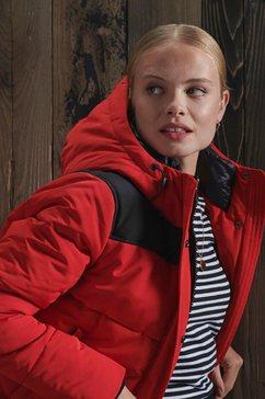 superdry winterjack »quilted everest jacket« rood