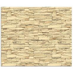 artland keukenwand ziegelmauer (1-delig) bruin