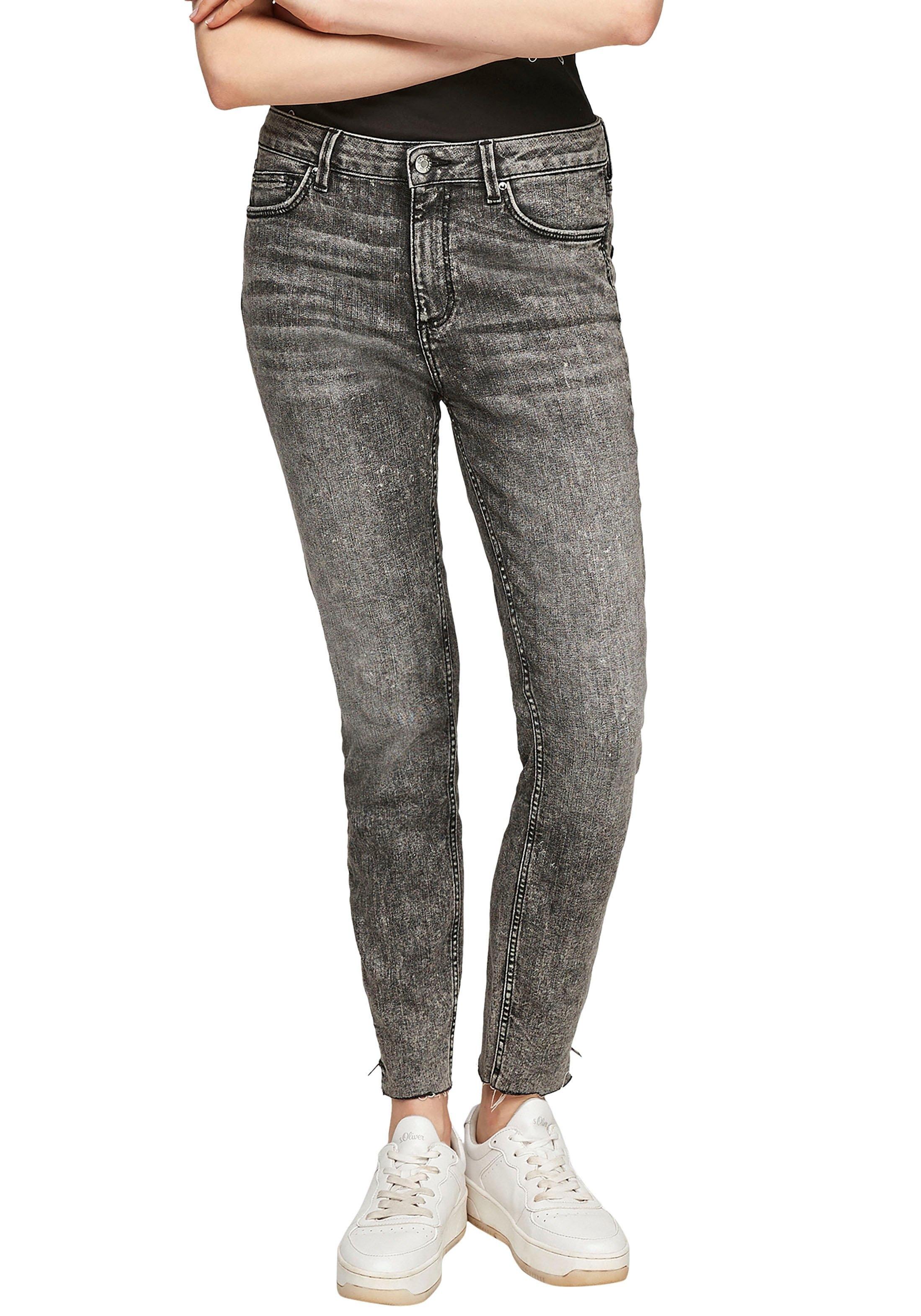 Q/S designed by 7/8 jeans Sadie Highwaist en met korte ritssluiting op de pijp goedkoop op otto.nl kopen