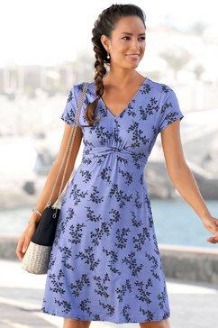 vivance jerseyjurk met bloemenprint blauw