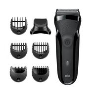 braun elektrisch scheerapparaat series 3 shavestyle 300bt zwart
