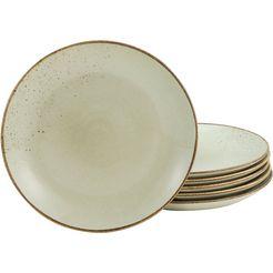 creatable ontbijtbordje 'nature collection' (set van 6) beige