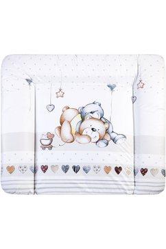 zoellner aankleedkussen softy - knuffelbeer made in germany (1-delig) wit