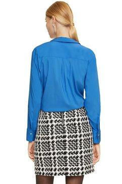 comma satijnen blouse blauw