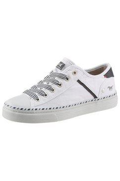 mustang shoes sneakers met 3 cm dikke plateauzool wit