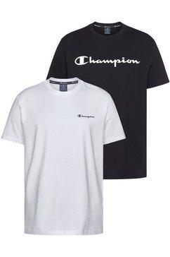 champion t-shirt »crewneck t-shirt« (set van 2) wit