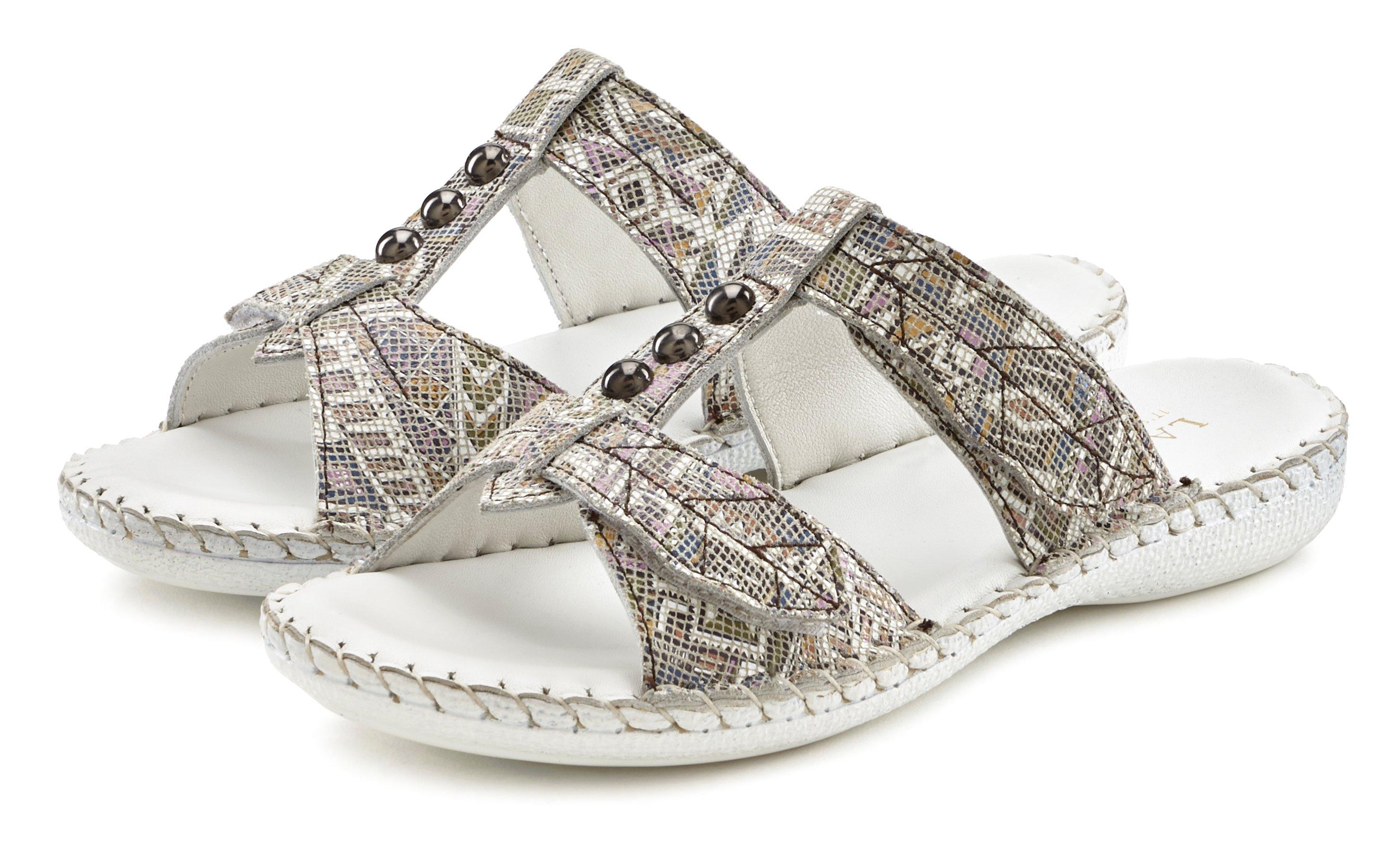 Lascana slippers van leer met garnering online kopen op otto.nl