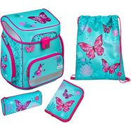 scooli schooltas easyfit, butterfly (set, 5) blauw