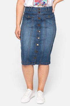 sheego jeansrok blauw