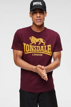 lonsdale t-shirt »logo« rood