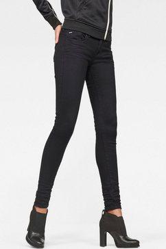 g-star raw skinny fit jeans »lynn d-mid waist super skinny« zwart