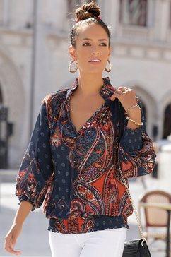 lascana gedessineerde blouse blauw