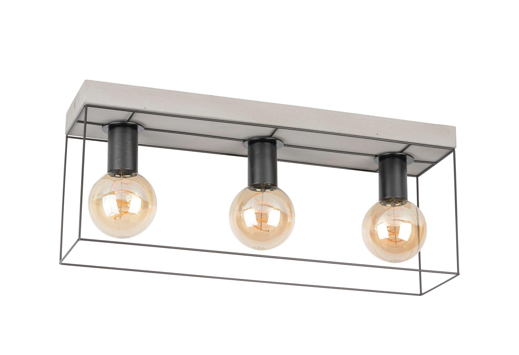 SPOT Light plafondlamp GRETTER CONCRETE Van echt beton en metaal, bijpassende LM E27 / exclusief, natuurproduct Made in Europe bestellen: 30 dagen bedenktijd