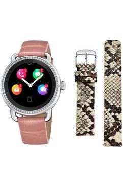 festina smartwatch smartime, f50000-2 (set, 3-delig, met verwisselbare band en oplaadbasis) roze