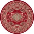 nouristan vloerkleed saricha belutsch korte pool, orint-look, woonkamer rood
