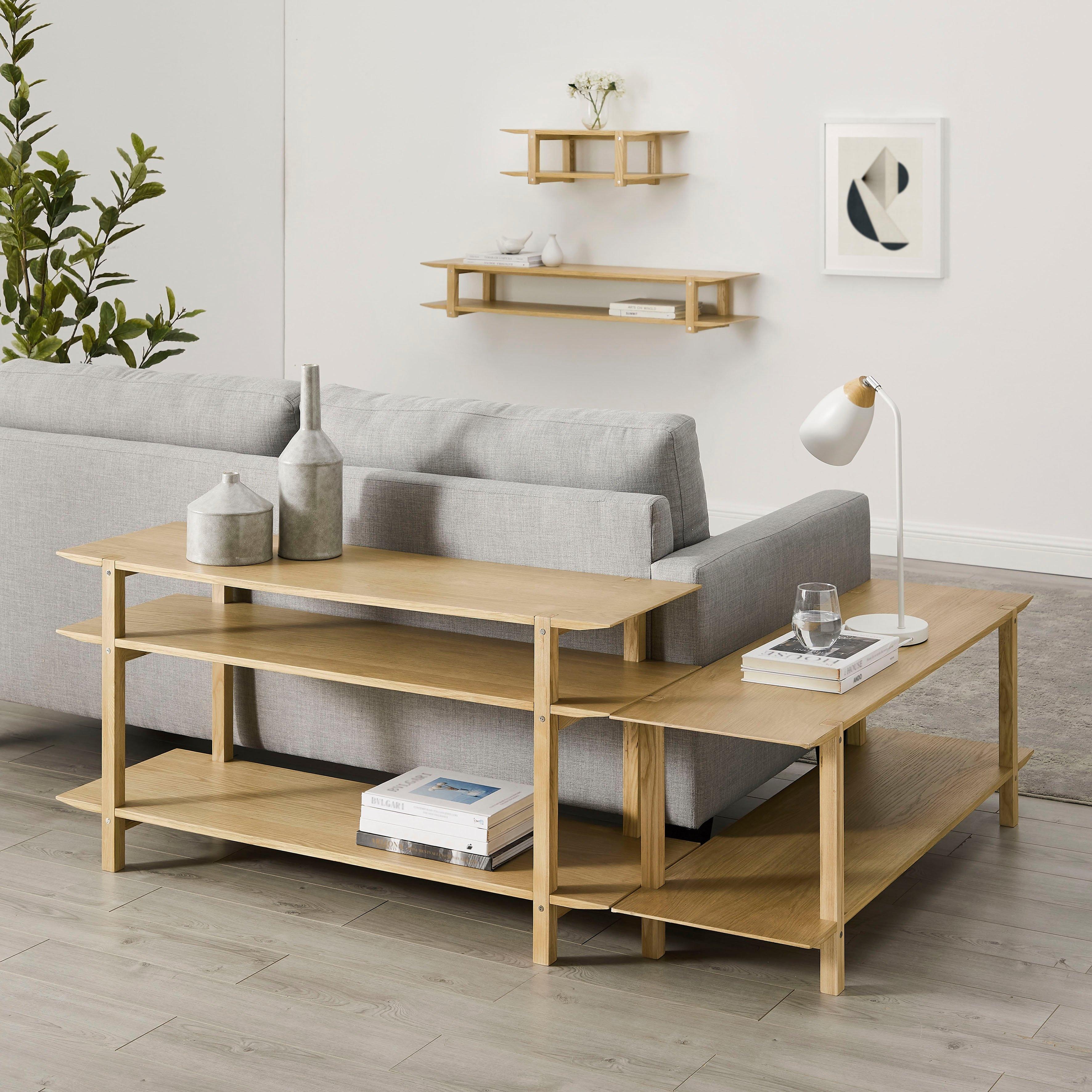 andas rek EDNA Design by Morten Georgsen, praktisch hoekrek met veel bergruimte, 60 cm hoog, - verschillende betaalmethodes