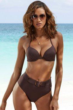 s.oliver red label beachwear highwaist-bikinibroekje rome met een afneembare riem bruin