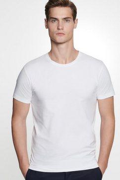 seidensticker t-shirt »schwarze rose« wit