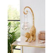 leonique decoratief figuur aap met windlicht goud