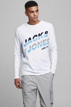 jack  jones shirt met lange mouwen »alpha tee« wit