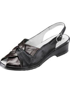 aco sandaaltjes met parelmoerglans zwart