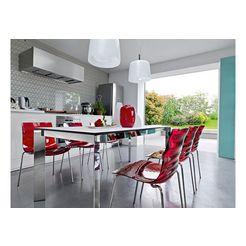 stoel, calligaris, set van 2 rood