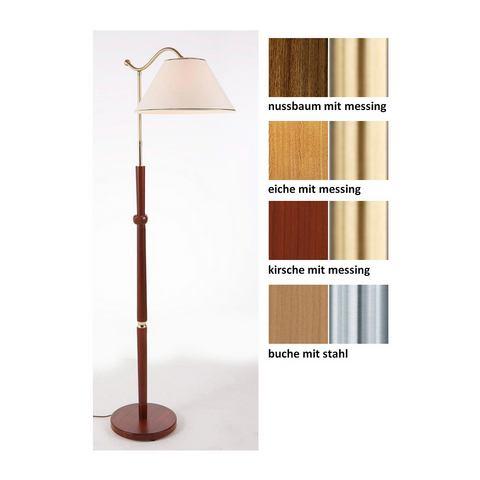 Houten staande lamp (1-pits), in 5 kleuren