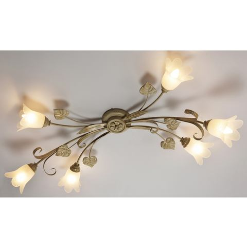 Plafondlamp Florentiner met 6 fittingen
