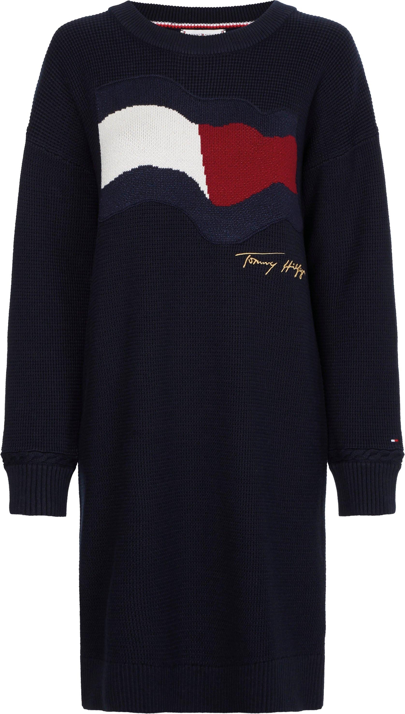 Op zoek naar een Tommy Hilfiger tricotjurk Motion Flag C-Nk Knee Dress Long Sleeve? Koop online bij OTTO
