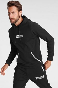 calvin klein performance hoodie reflecterende details zwart