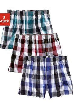 le jogger boxershort casual stijl met een comfortabele pasvorm (3 stuks) multicolor