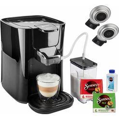 senseo »hd6570-60 latte duo« koffiepadautomaat zwart