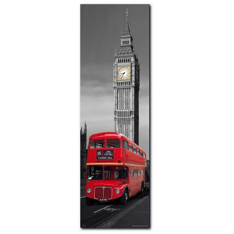 Artprint, Premium Picture, 'London Red Bus', afm. 30x90 cm