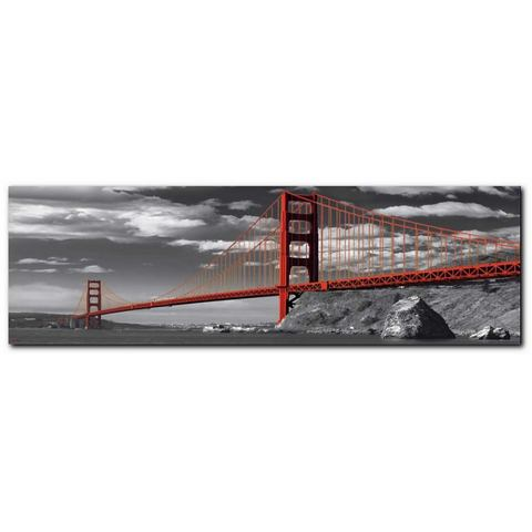 Artprint, Premium Picture, 'Golden Gate Bridge', afm. 90x30 cm