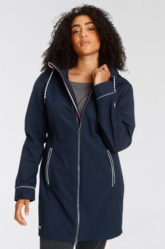 h.i.s softshell-parka van duurzaam gerecycled polyester in grote maten blauw
