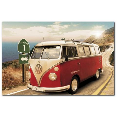 Artprint, Premium Picture, 'VW Bus', afm. 90x60 cm
